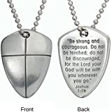 Pendant-Shield Of Faith (Cross)-24 Chain (Carded)