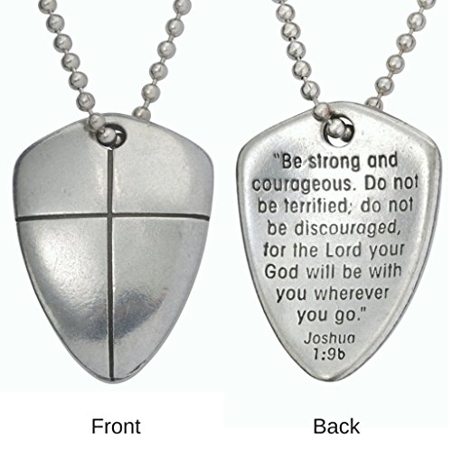 Necklace Shield Faith Cross Uncarded Pewter product image