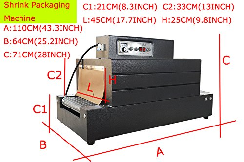 (INTBUYING 220V 7000W Automatic Heat Film Shrink Wrap Tunnel Electric Packaging Machine)