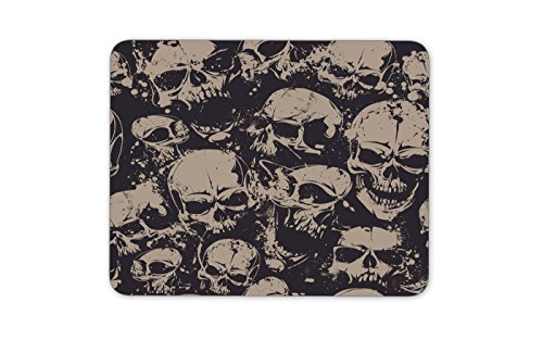 Grunge seamless pattern with skulls Mouse pad Gaming Mouse pad Mousepad Nonslip Rubber Backing Dimension: 9.4