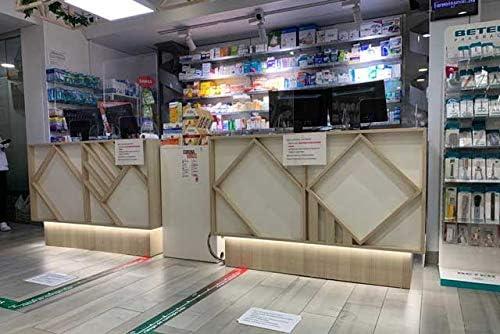 Mampara de metacrilato 80x80cm para mostrador de recepci/ón /ópticas librer/ías estancos talleres farmacias gasolineras