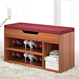 HOMEE Sofa stool- fashion simple change shoe stool storage shoe stool modern simple wear shoes stool home footstool hall for shoe stool (3 colors optional) (size optional) --storage stool,80CM,A