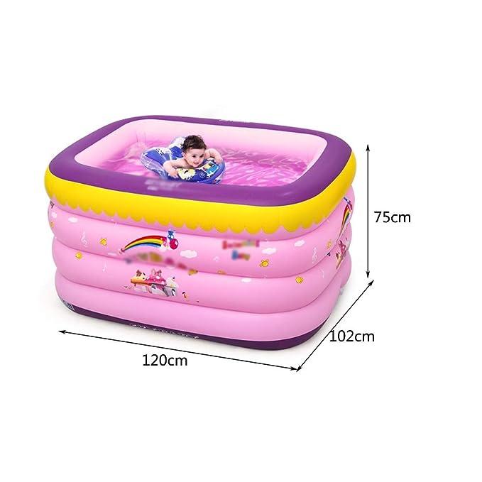 Piscina Hinchable para niños, Gruesa y Duradera, Plegable ...