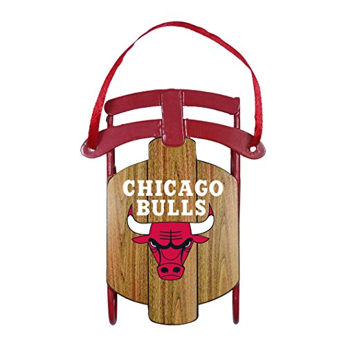 NBA Chicago Bulls Metal Sled Ornament (Bull Sled)