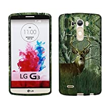 2D Camo Deer Pine For LG Optimus G3 Case Cover Hard Phone Case Snap-on Cover Protector Rubberized Touch Faceplates