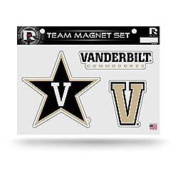 "Ncaa Vanderbilt Commodores Ncaa Team Magnet Sheet, Gold, 11"" X 8.5"" X 25"""
