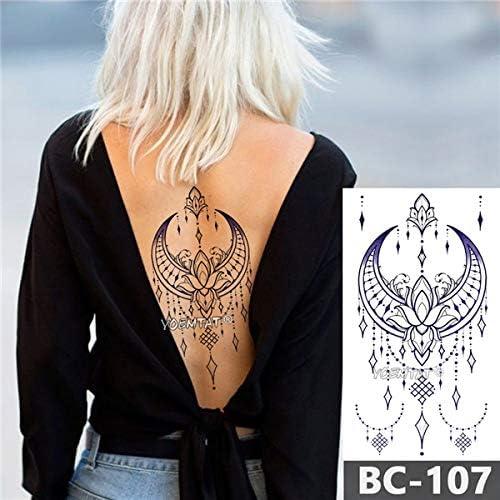 1 hoja de tatuaje para el pecho con forma de corazón para la ...