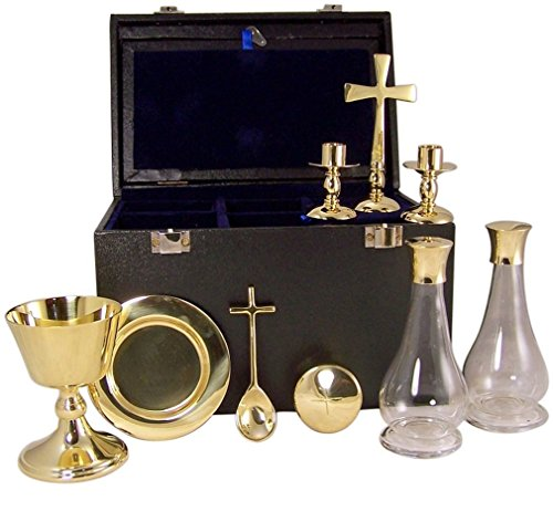 (Deluxe Travel Mass Kit 9 Piece Communion Set with Carrying Case)