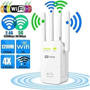 1200Mbps Dual Band WiFi Repeater Router 2.4/5G Wireless Range Extender