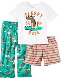 Carter's Boys' 4-8 3-Piece Surf Dude Pajama Set
