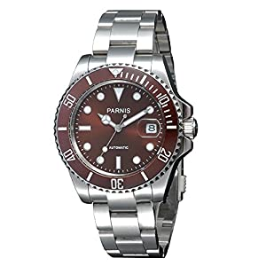 Whatswatch Sapphire Crystal Japan Miyota Automatic MOV'T 40mm Parnis Men Submariner Watch PA-0050
