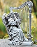 Cheap Roman 10″ Joseph's Studio Angel with Harp Wind Chime Religious Outdoor Garden Statue