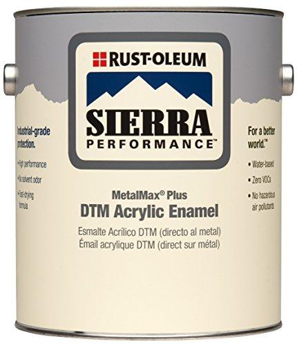 Rust-Oleum 264186 Sierra Performance MetalMax Plus DTM Acrylic Enamel Paint, 1-Gallon, Gloss Black, 2-Pack