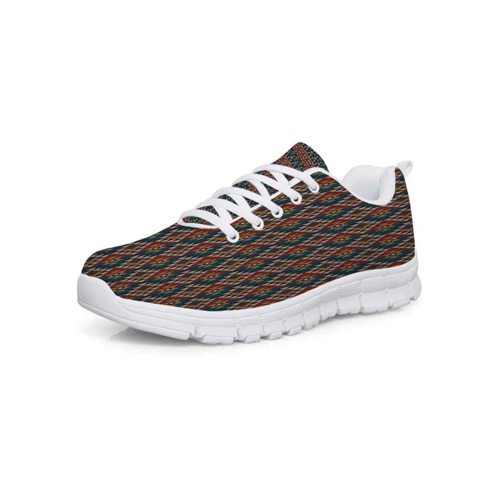 YOLIYANA Native American Sport ShoesSouth American Aztec Motifs Original Ethnic Tribal Culture Folkloric Native Decorative Sneakers for Girls Womens,US 5