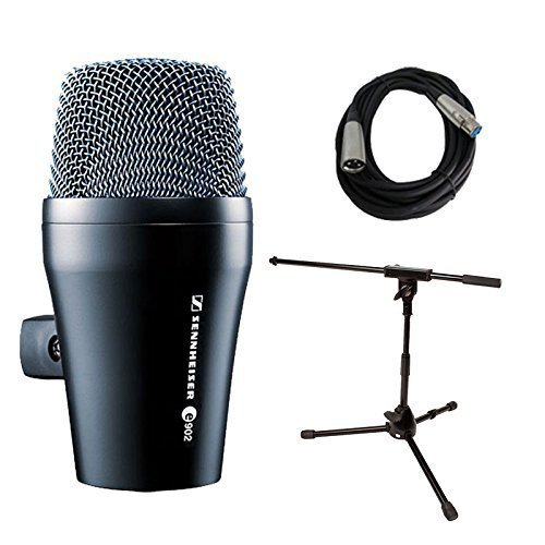 Sennheiser E902 Kick Drum Bass Dynamic Microphone with Stand and Cable - 902 Knob