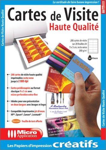 Cartes De Visite Haute Qualite Collectif Amazonfr Fournitures Bureau