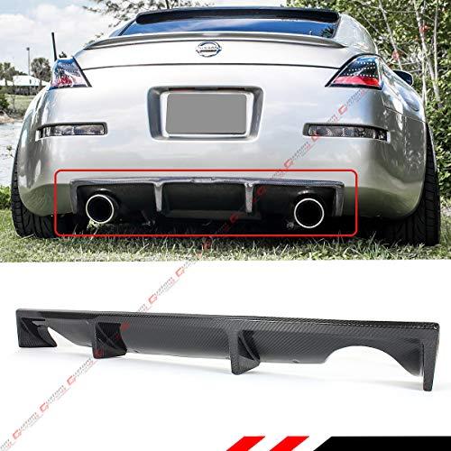 - Fits for 2003-2007 Nissan 350Z JDM NS Style Carbon Fiber Rear Bumper Diffuser Valance