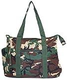 Ever Moda Camo Tote Bag X-Large 21-inch (Green)