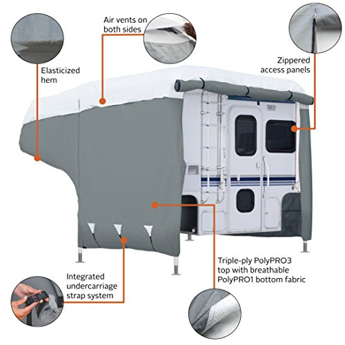 Classic Accessories PolyPro 3 RV Cover For 6-8' Campers Truck Camper Cover by Classic Accessories (Image #2)