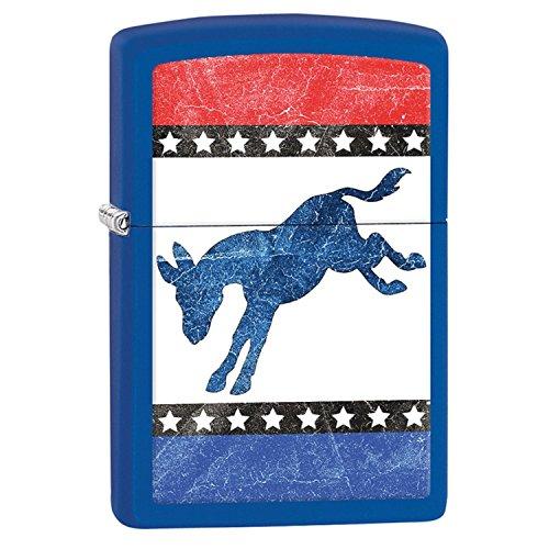 - Zippo Democratic Donkey Pocket Lighter, Royal Blue Matte