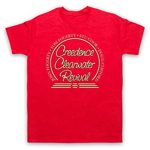 shirt Creedence Logo Hommes Ccr Par Rouge Des Circle T Clearwater Revival Inspire Officieux 1faFzq6