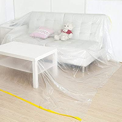 """146""""Lx106""""W Extra Large Sofa Couch Cover, Heavy Duty PEVA Waterproof & Dustproof Sofa Storage Covers,ed Sofa Couch Furniture Protector Cover Shelter ForMoving Protection and Long Term Storage (HZC182"""