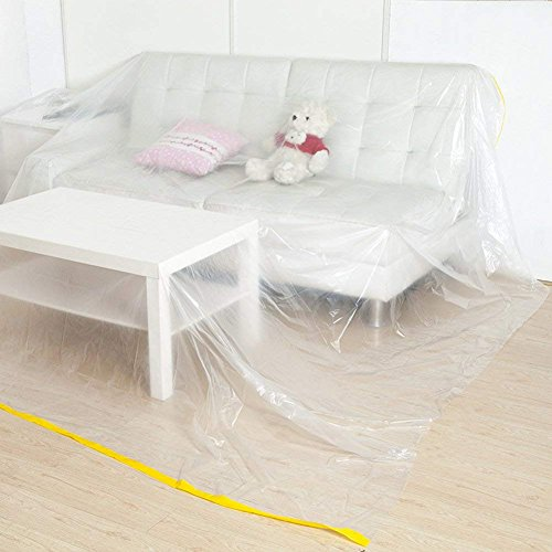 "146""Lx106""W Extra Large Sofa Couch Cover, Heavy Duty PEVA Waterproof & Dustproof Sofa Storage Covers,ed Sofa Couch Furniture Protector Cover Shelter ForMoving Protection and Long Term Storage (HZC182"