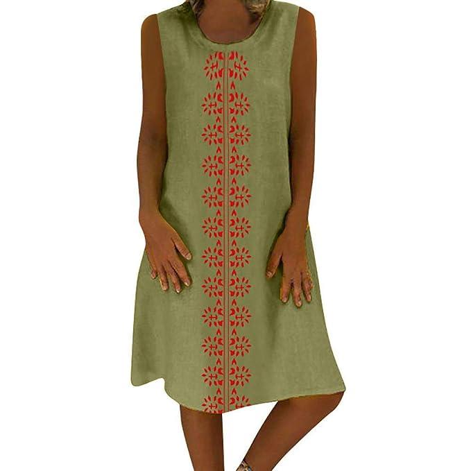 0f71f688dfa77 Mini Dresses, Women Summer Plus Size Vintage Ethnic Printed ...