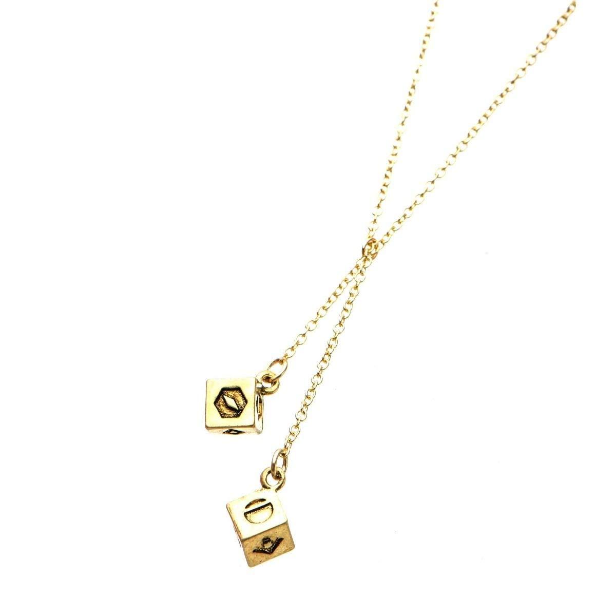Star Wars 3D Golden Dice 316L Stainless Steel /& Base Metal Pendant Necklace
