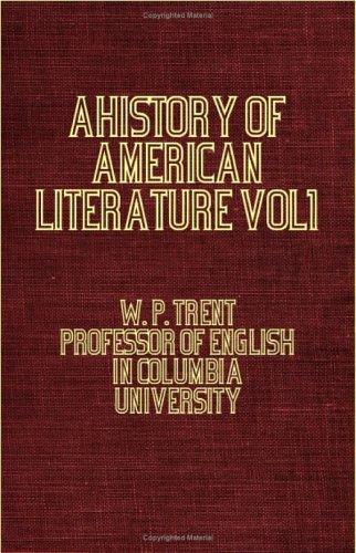 Download A History Of American Literature  Vol I pdf epub