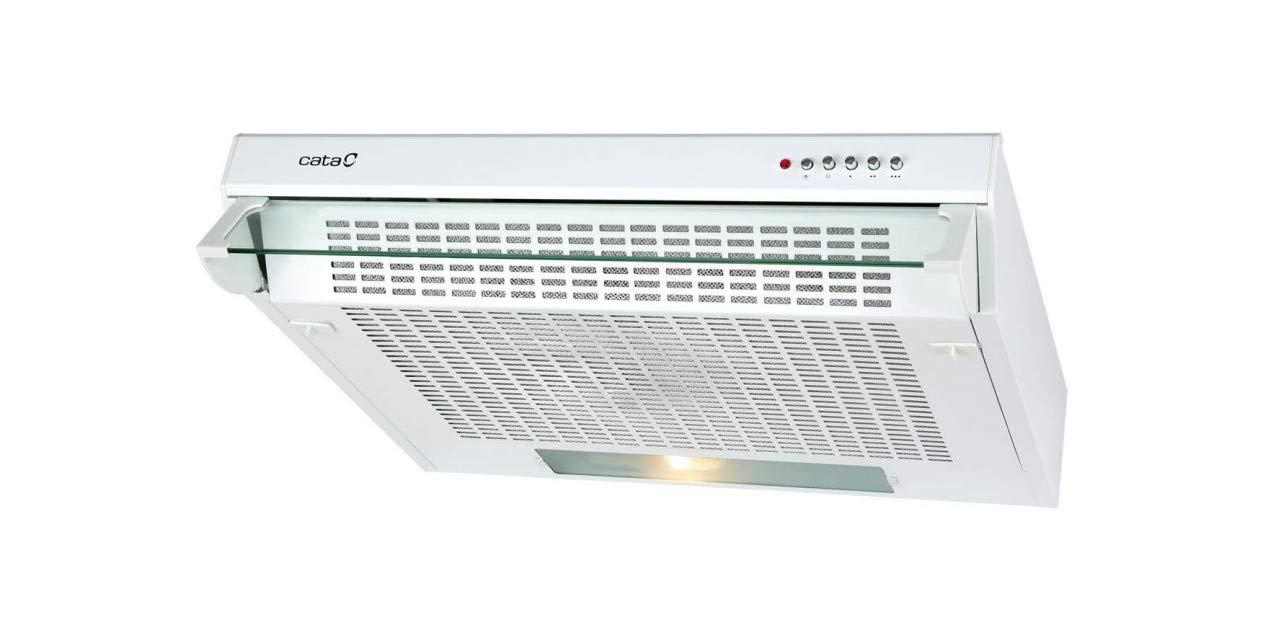 340 m/³//h, Canalizado, E, F, D, 57 dB CATA TF 2003 GWH Encastrada Blanco 340m/³//h E Campana