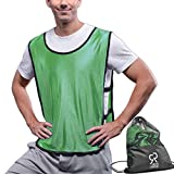 SportsRepublik Pinnies Scrimmage Vests (12-Pack) | Multiple Colors Practice Jerseys | Kids, Youth or Adult Sizes | Green Medium