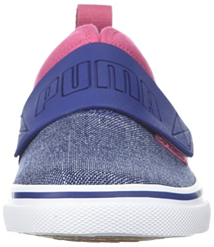 PUMA Baby EL Rey Fun Denim Kids Sneaker, Blue Depths-Rapture Rose, 7 M US Toddler