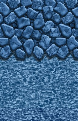 Olap Liner (Blue Wave Oval Boulder Swirl Olap 48/52 Inch - 18 Ft X 45 Ft)