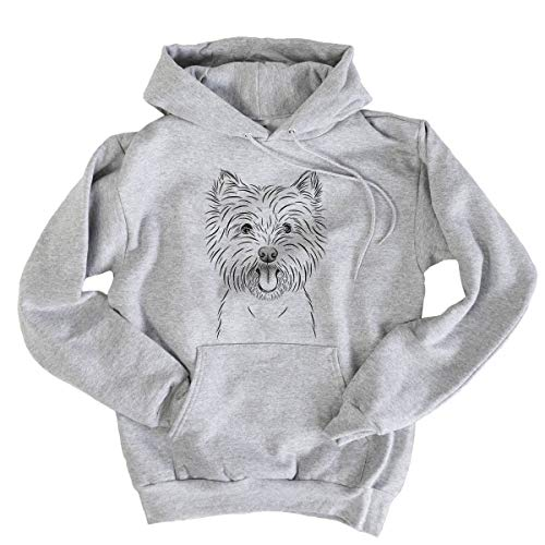 (Bare Welma The Westie West Highland Terrier Dog Men's Pullover Hoodie Sweatshirt Xtra Large Grey)