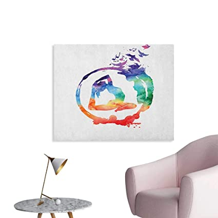 Amazon.com: Anzhutwelve Yoga Home Decor Wall Rainbow ...