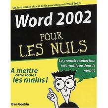 WORD 2002 POUR LES NULS