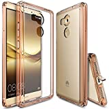 Huawei Mate 8 Case, Ringke [FUSION] Crystal Clear PC Back TPU Bumper [Drop Protection/Shock Absorption Technology][Attached Dust Cap] For Huawei Mate 8 - Rose Gold Crystal