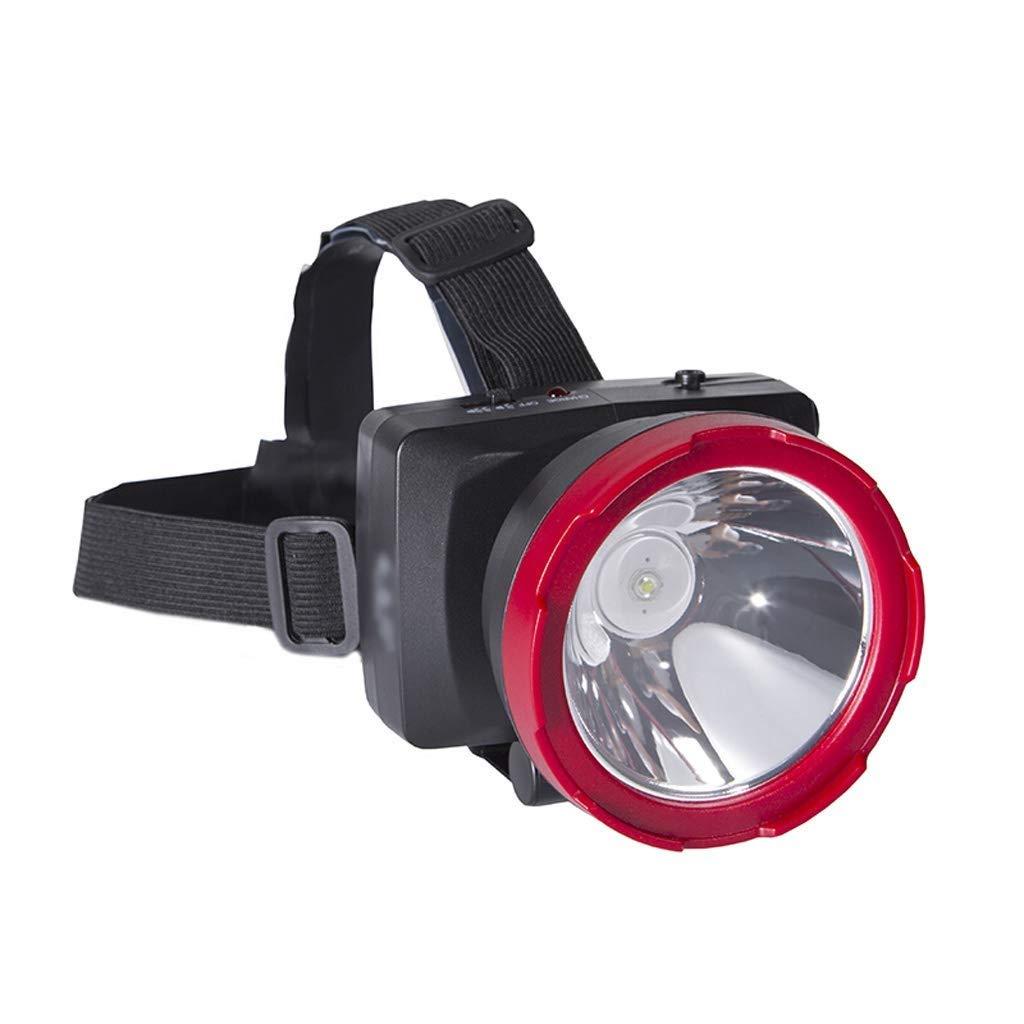 QAZWS Headlamp Rechargeable LED Flashlight for Mining,Camping, Hiking, Fishing by QAZWS