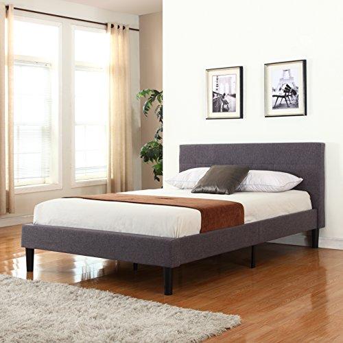Deluxe Tufted Platform Bed Frame w/ Wooden Slats