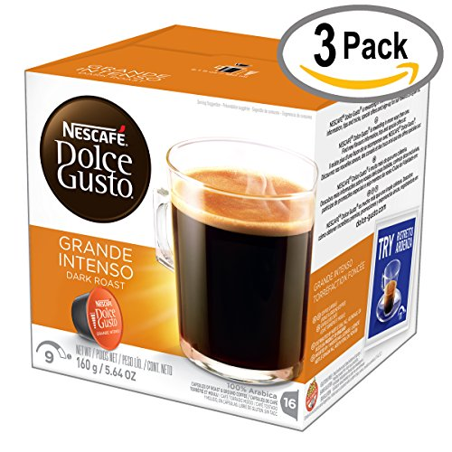 (NESCAFÉ Dolce Gusto Coffee Capsules  Grande Intenso  48 Single Serve Pods, (Makes 48 Cups)    48 Count)