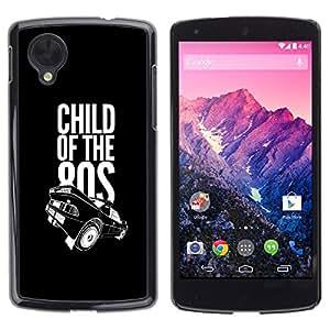 LECELL -- Funda protectora / Cubierta / Piel For LG Google Nexus 5 D820 D821 -- Child Of the 80s Eighties --