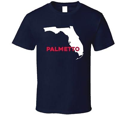 Palmetto Florida Map.Amazon Com Palmetto Florida Custom City Patriotic Usa Map T Shirt