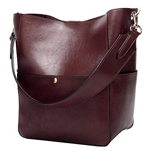 Women's Satchel Hobo Top Handle Tote Shoulder Purse Soft Leather Crossbody Designer Handbag Big Capacity Bucket Bags ()