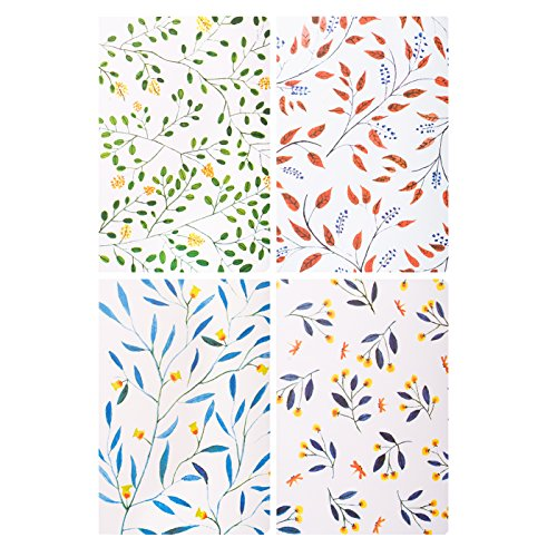 Memo Books Ruled Notebook A5 Notepads Soft Cover Journal Diary 4 Colors-Pack of 4