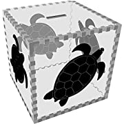 Large 'Sea Turtle' Clear Money Box / Piggy Bank (MB00030328)