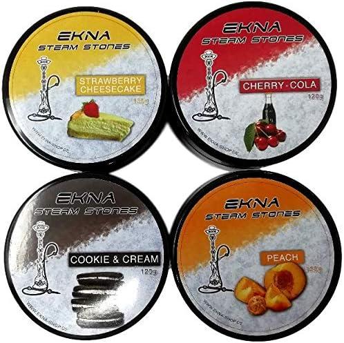 EKNA Steam Stones - Juego de 4 piedras para cachimba sin nicotina (120 g, sin nicotina)