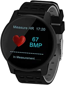 SUNROAD Smart Touch Screen Health&Fitness Tracker Activity Blood Pressure&Oxygen Sports Watch Heart Rate Measurement Message & Call Remind Pedometer Calorie Bluetooth Sleep Monitor Watches