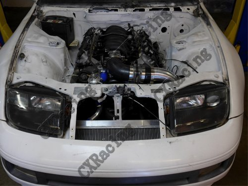 Amazon.com: Cxracing V-mount Radiator + Fan Kit for Nissan 300zx Z32 with Ls1 Lsx Ls Swap: Automotive