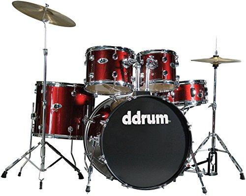 (dDrum D2 Beginner 5 Piece Drum Set Blood Red)
